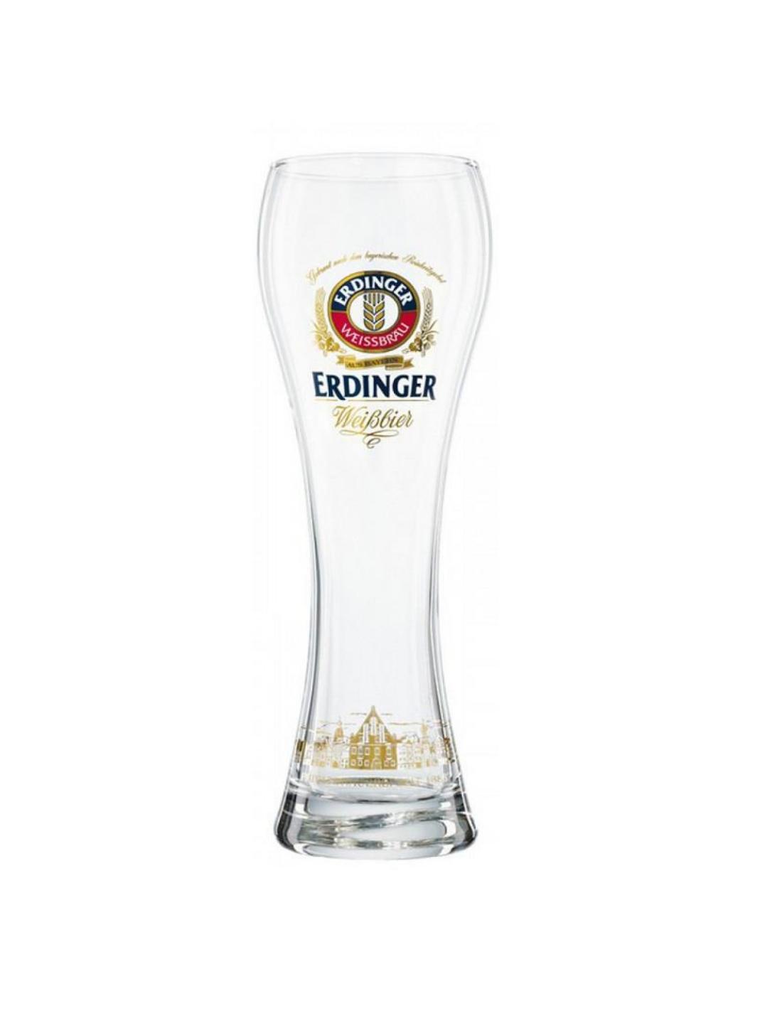 Pahar Erdinger, 0.5L, Belgia image0