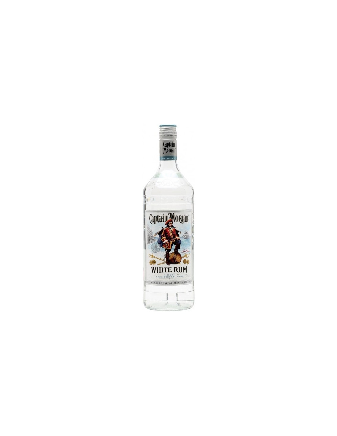 Rom alb Captain Morgan, 37.5% alc., 1L, Jamaica