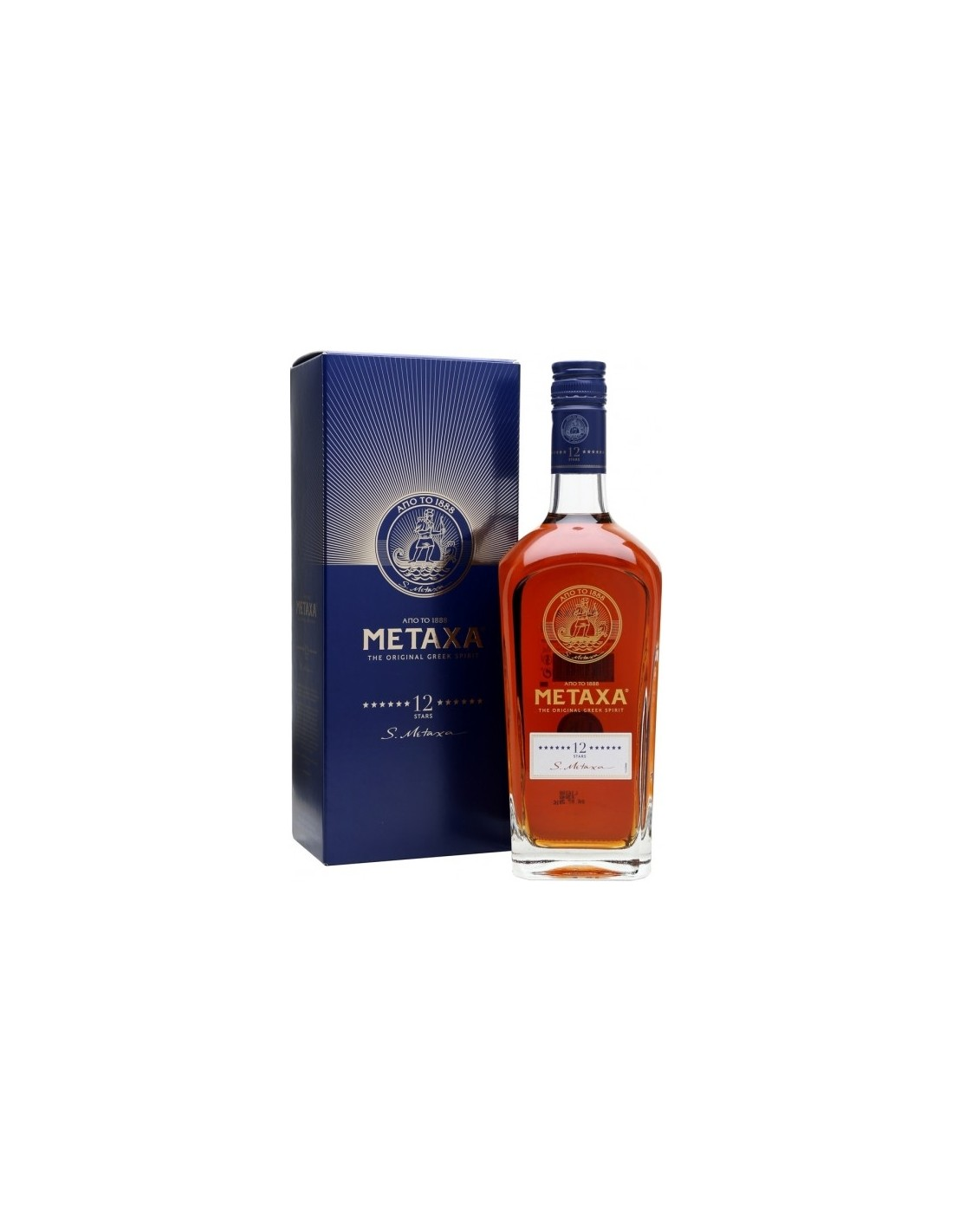 Coniac Brandy Metaxa 12*, 40% alc., 0.7L, Grecia