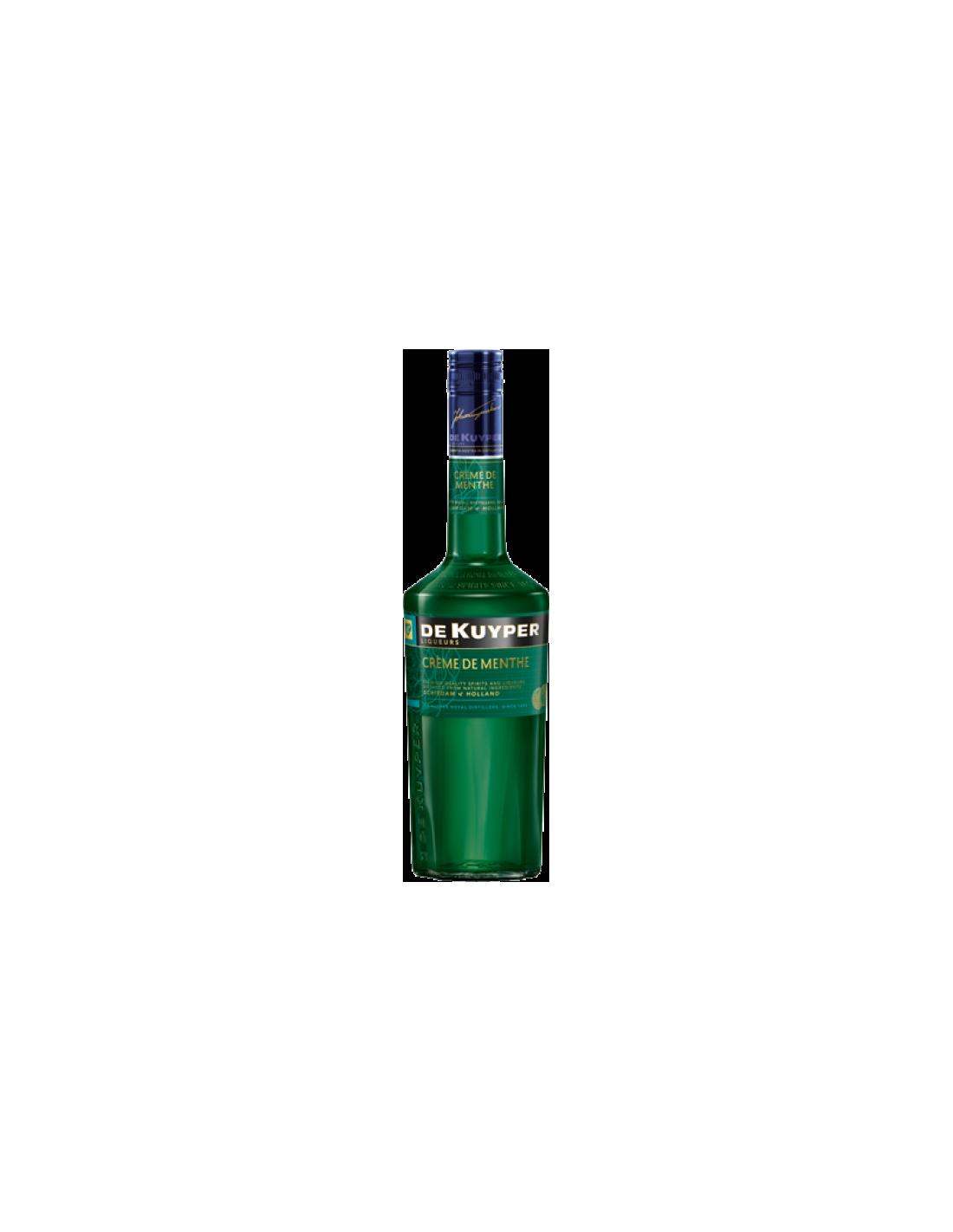 Lichior De Kuyper Creme de Menthe, 24% alc., 0.7L, Olanda
