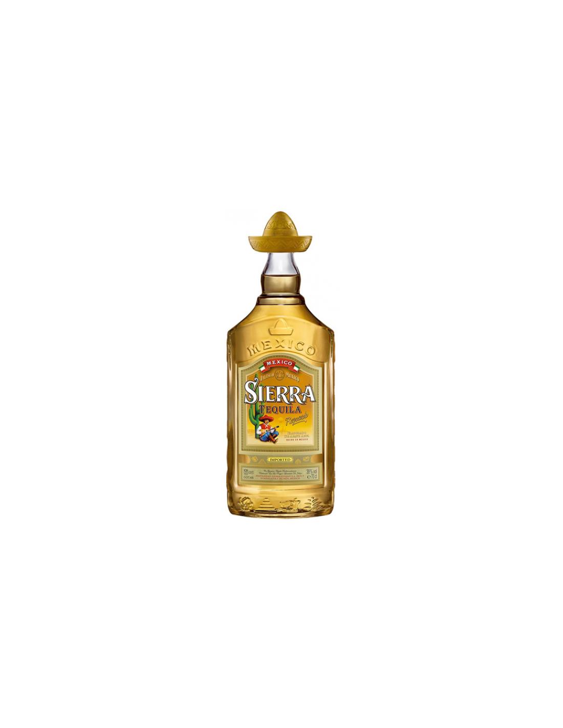 Tequila aurie Sierra Reposado 0.7L, 38% alc., Mexic