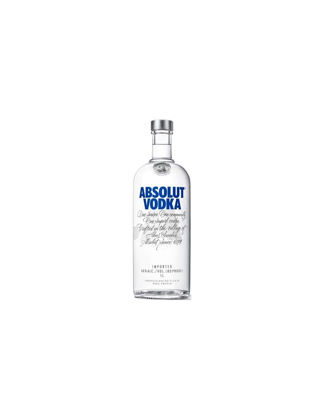 Vodca Absolut Blue 1L, 40% alc., Suedia