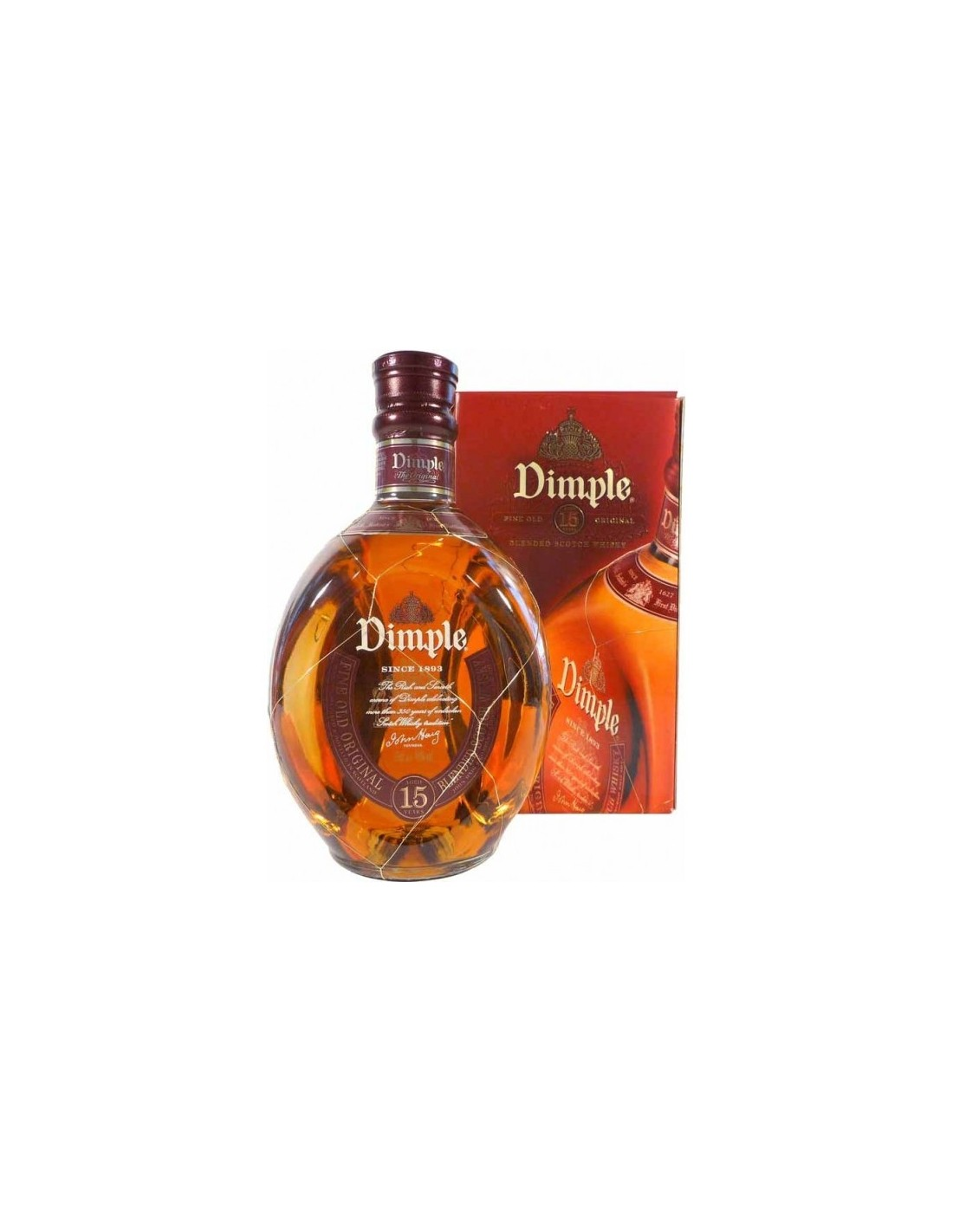 Blended Whisky Dimple, 15 ani, 43% alc., 0.7L, Scotia