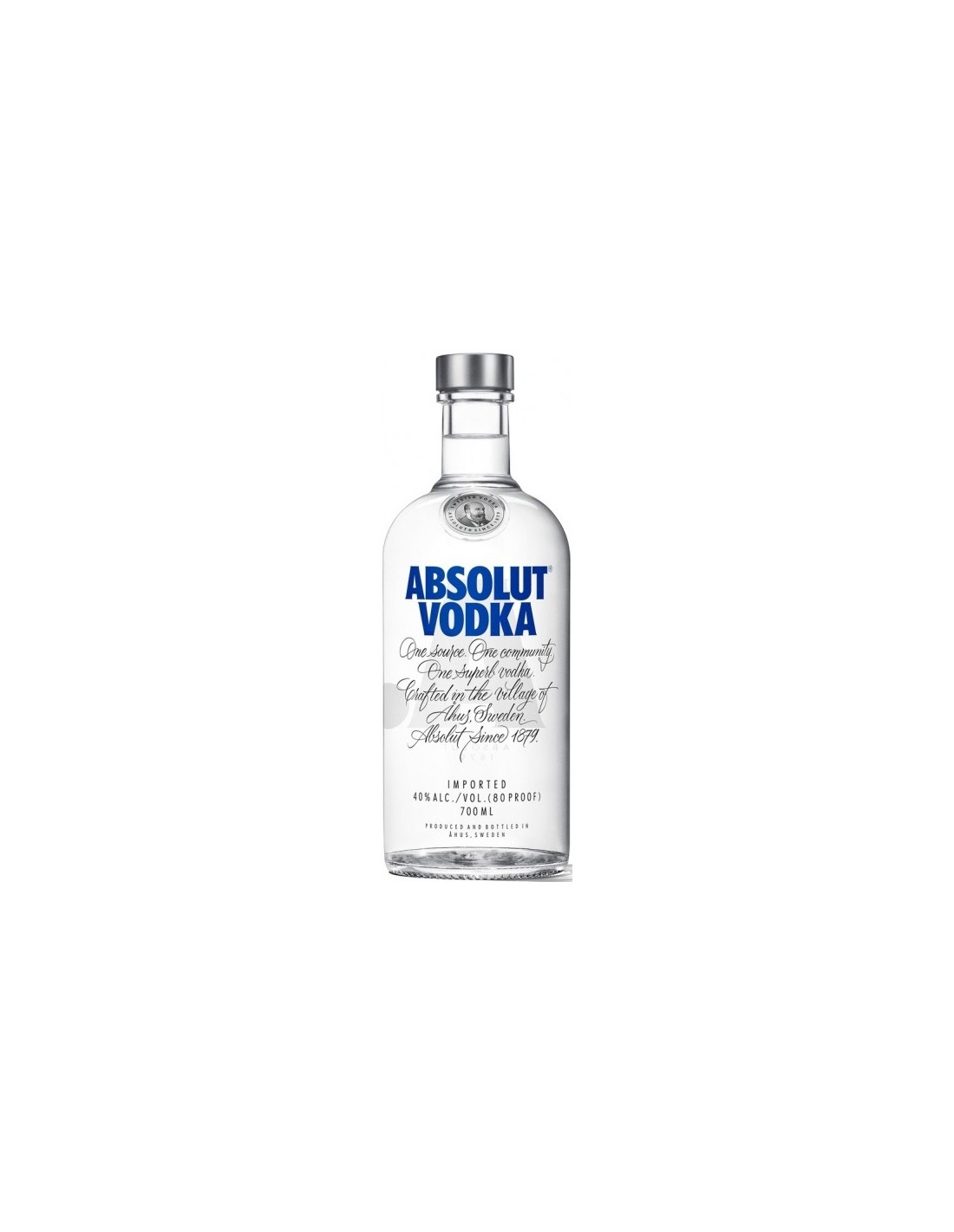 Vodca Absolut Blue 0.7L, 40% alc., Suedia
