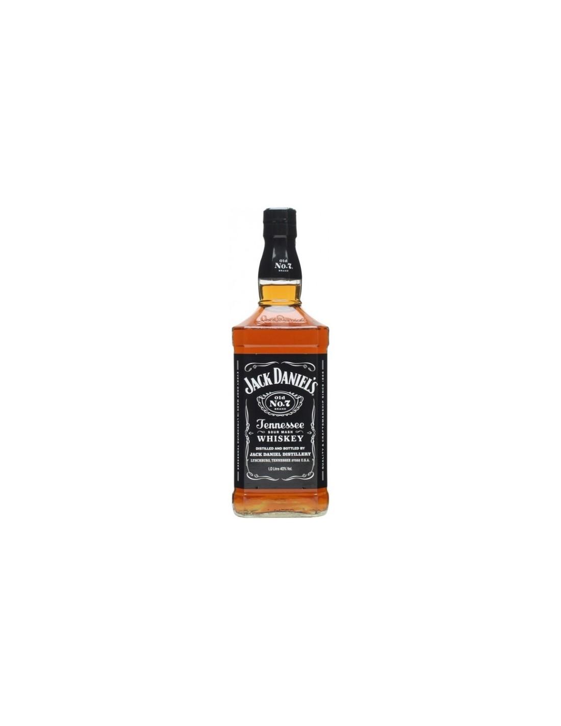 Whisky Bourbon Jack Daniel's, 40% alc., 1L, America