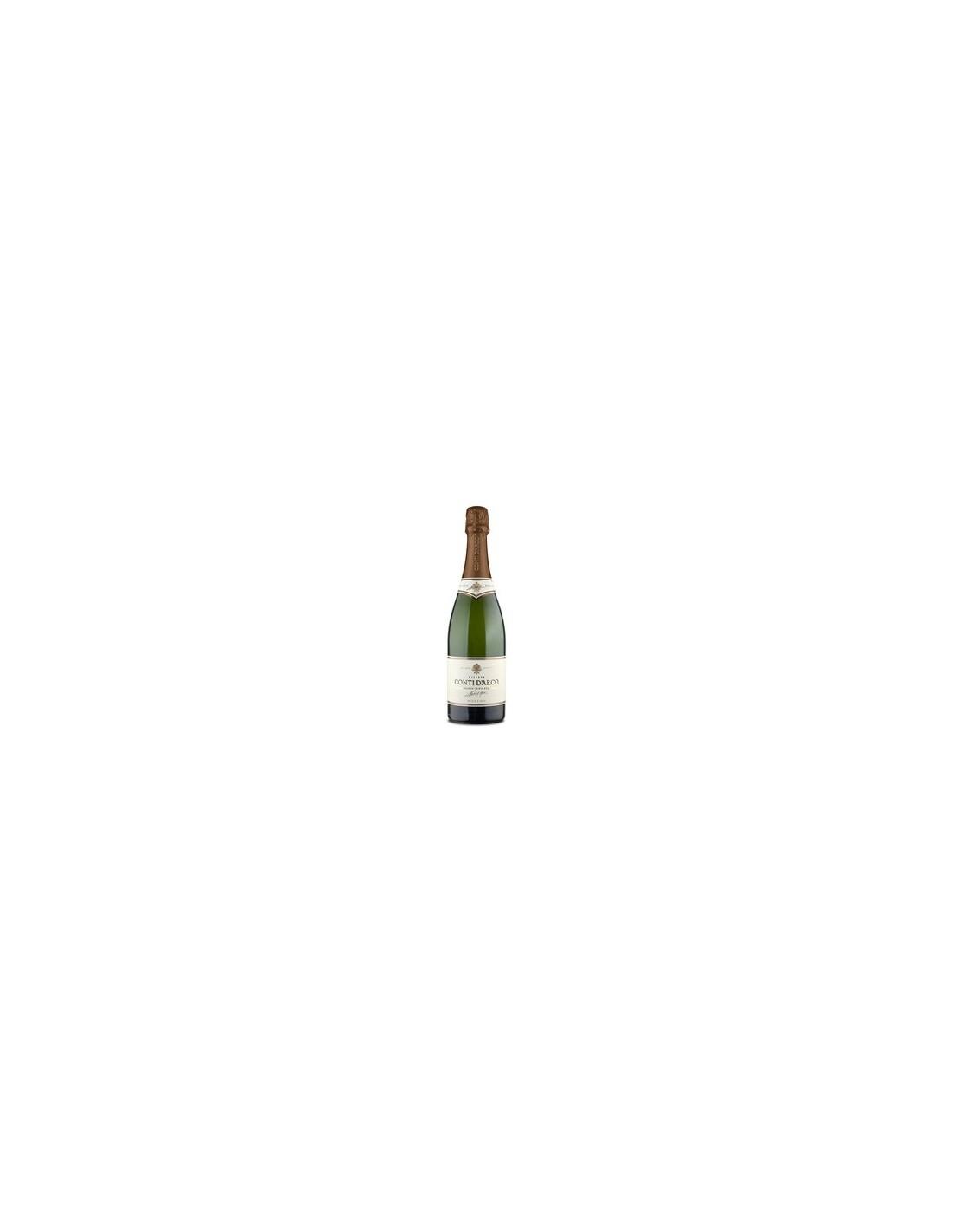 Vin spumant alb, Chardonnay-Pinot Noir, Conti d'Arco Trentino, 0.75L, 12.5% alc., Italia