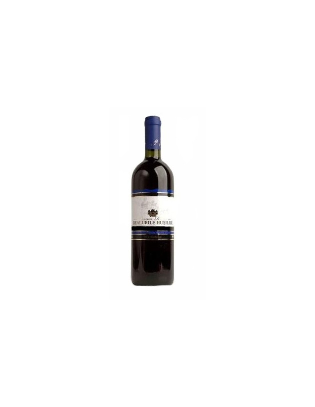 Vin rosu demisec, Dealurile Husilor, 0.75L, 10.5% alc., Romania