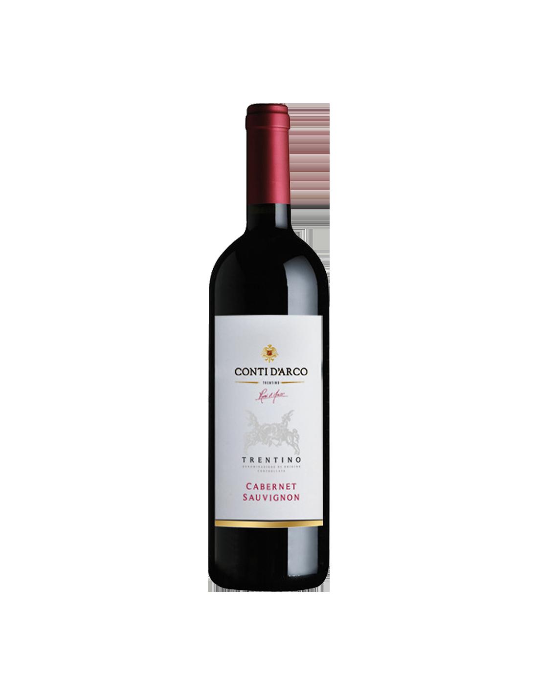 Vin rosu, Cabernet Sauvignon, Conti d'Arco Trentino, 0.75L, Italia