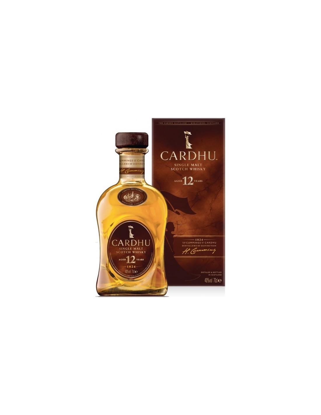 Whisky Single Malt Cardhu, 12 ani, 40% alc., 0.7L, Scotia