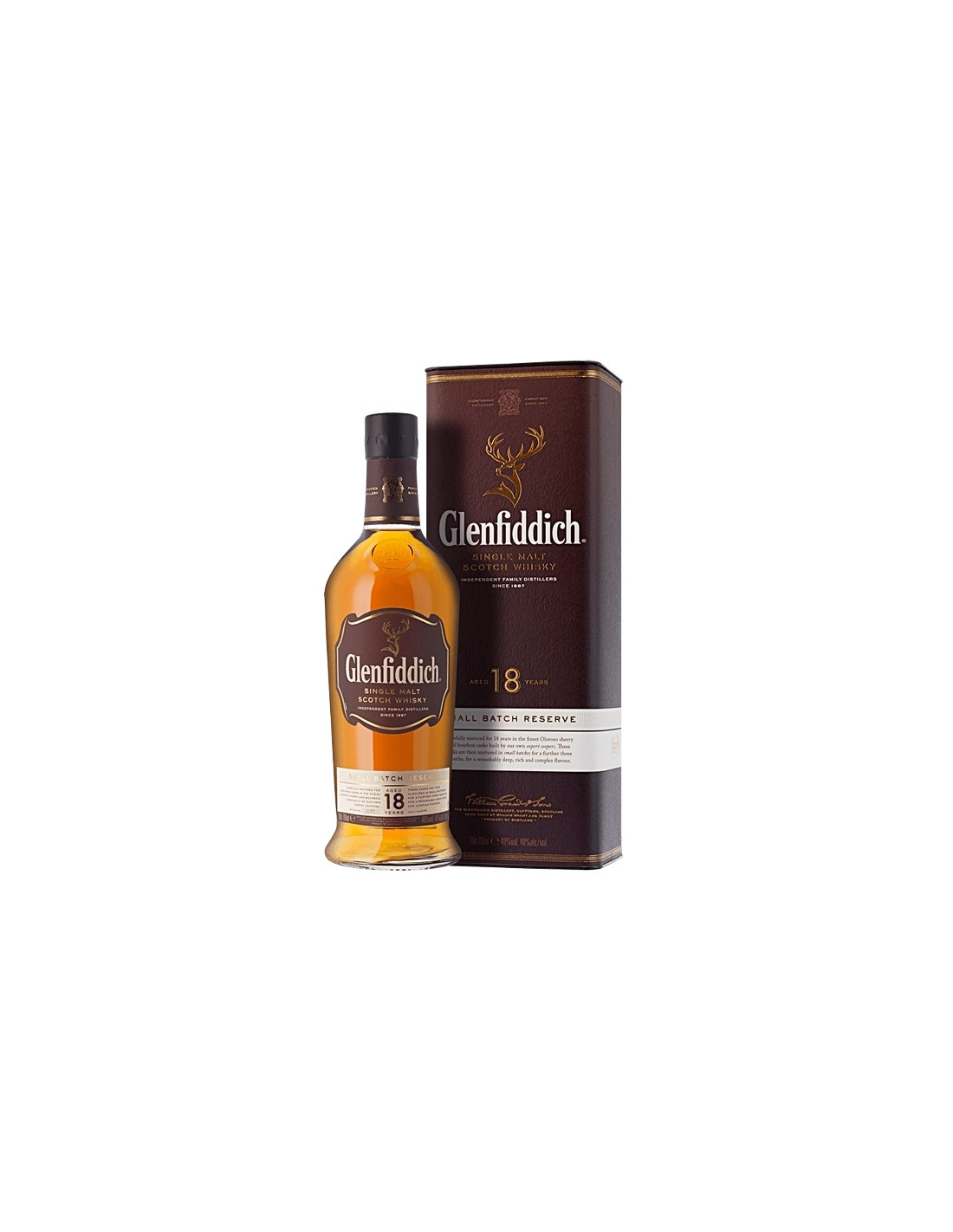 Whisky Single Malt Glenfiddich, 18 ani, 40% alc., 0.7L, Scotia