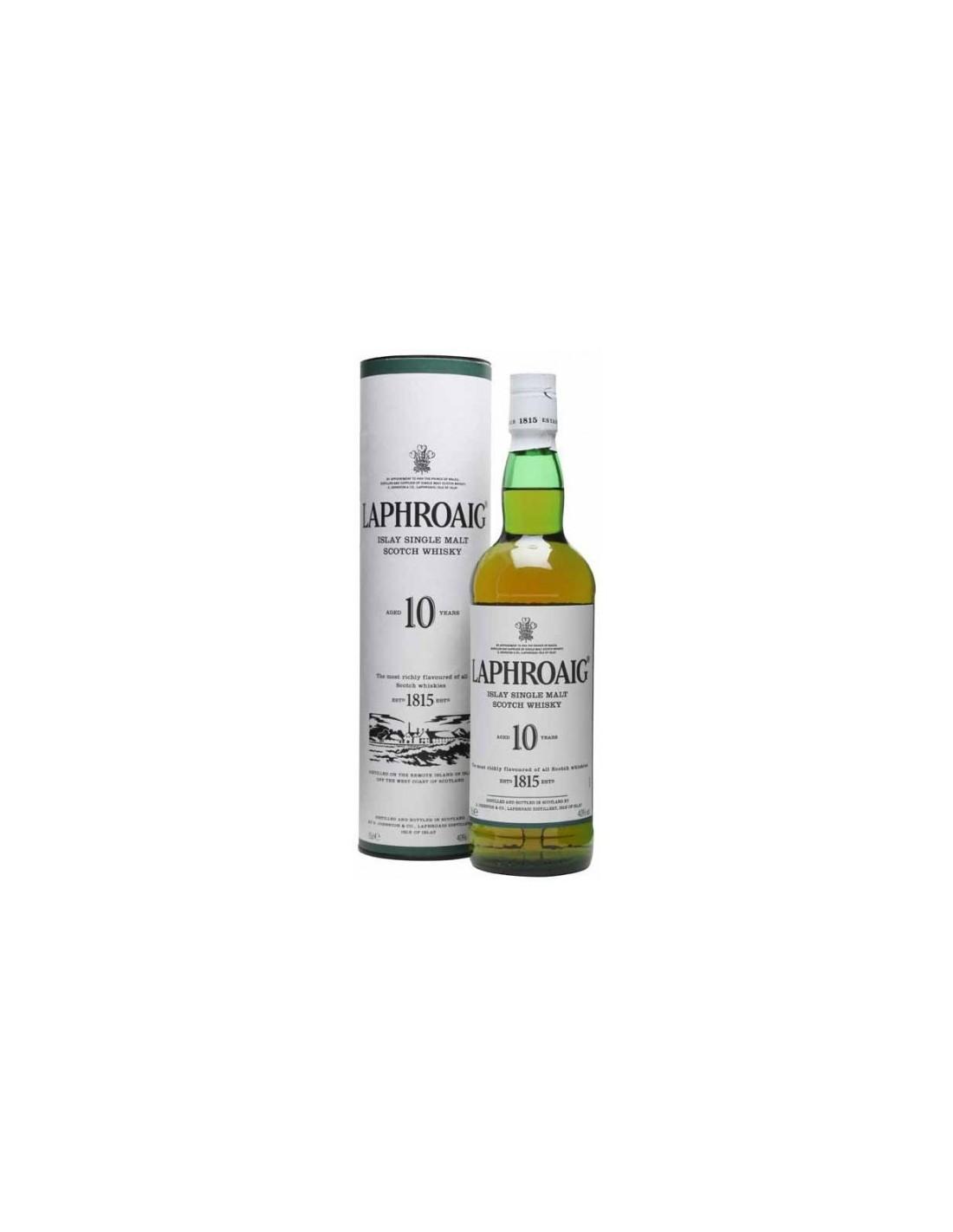 Whisky Laphroaig, 10 ani, 40% alc., 0.7L, Scotia