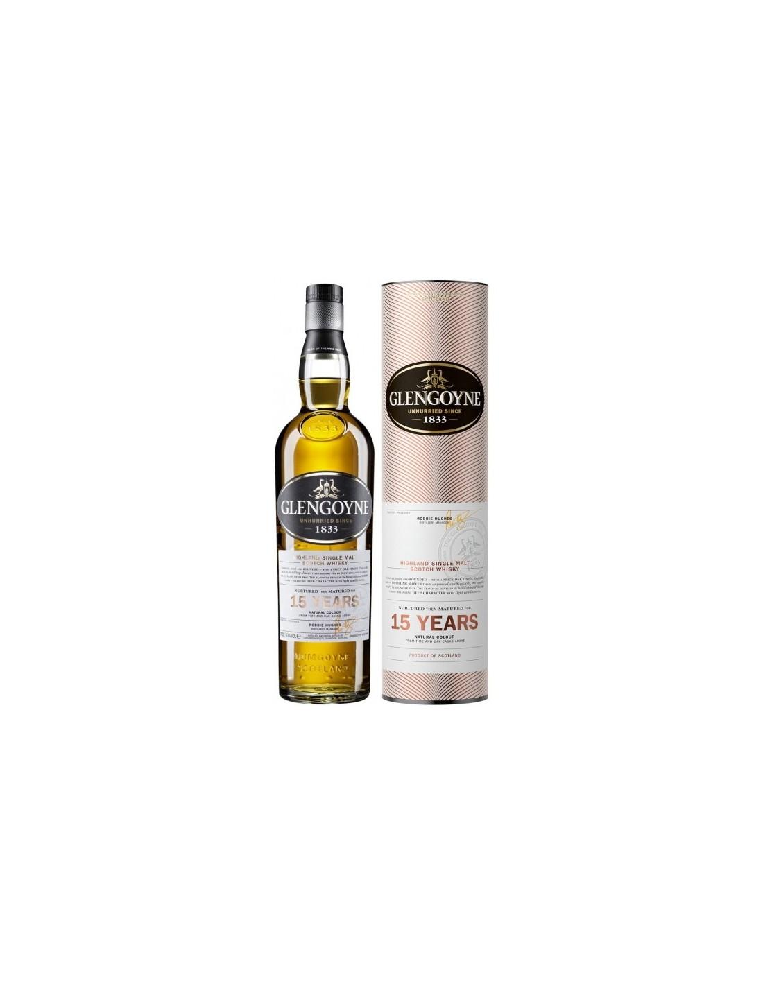 Whisky Glengoyne , 15 ani, 43% alc., 0.7L, Scotia